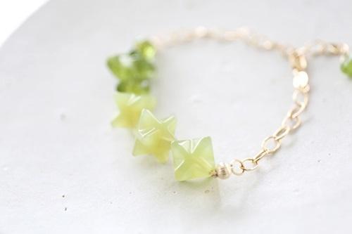 画像2: 14KGF peridot  bracelet