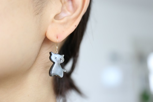 画像3: 14KGF cat shell pierce