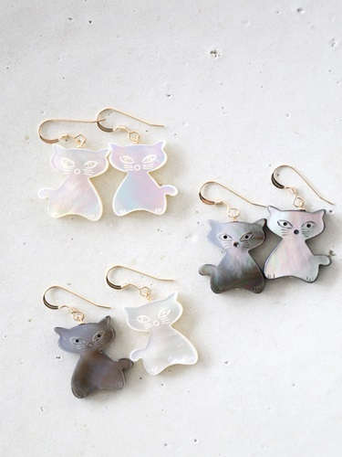画像1: 14KGF cat shell pierce