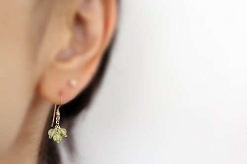 画像3: 14KGF peridot  pierce