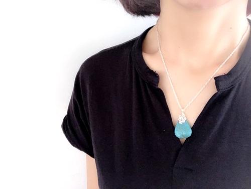 画像2: SILVER925  turquoise necklace