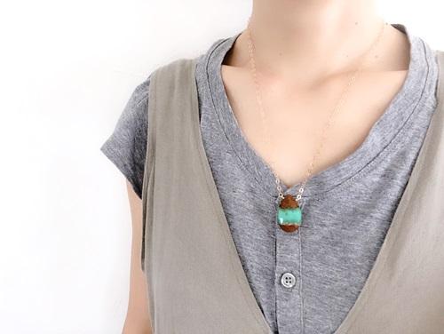 画像4: 14KGF chrysoprase necklace