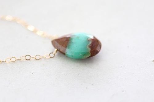 画像3: 14KGF chrysoprase necklace