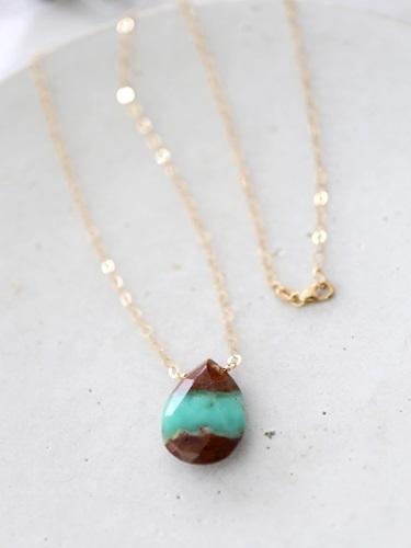 画像1: 14KGF chrysoprase necklace