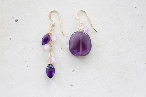 画像2: 14KGF amethyst pierce