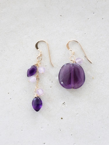 画像1: 14KGF amethyst pierce