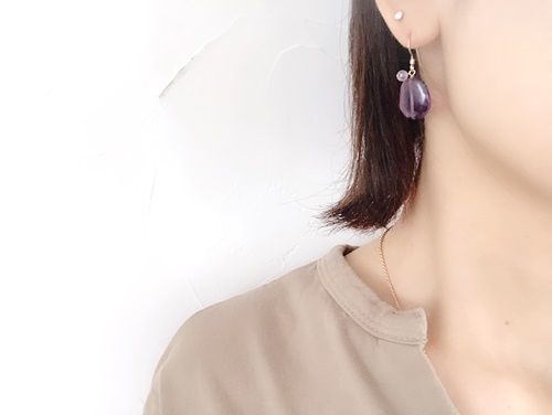 画像3: 14KGF amethyst pierce