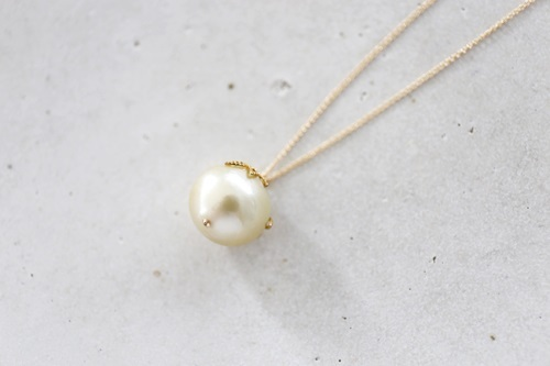 画像2: 14KGF south sea pearl necklace