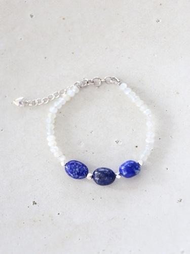 画像1: SILVER925 lapis lazuli   bracelet