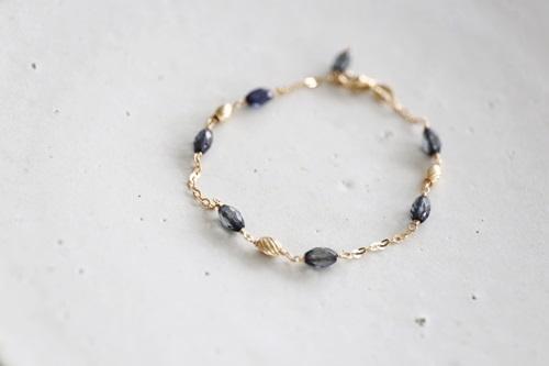 画像2: 14KGF sapphire bracelet