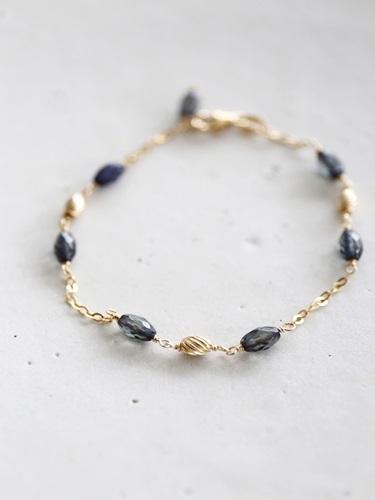 画像1: 14KGF sapphire bracelet