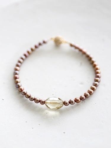 画像1: smoky quartz bracelet