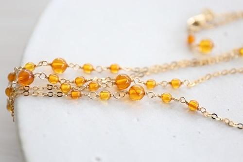 画像5: 14KGF amber necklace