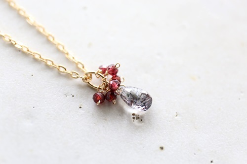 画像3: 14KGF  superseven garnet necklace