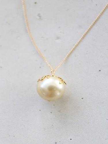 画像1: 14KGF south sea pearl necklace