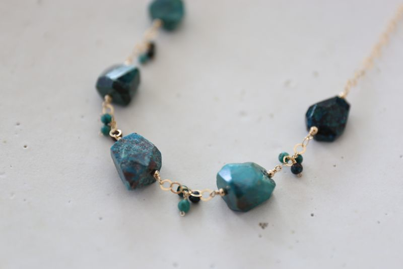 画像3: 14KGF chrysocolla necklace