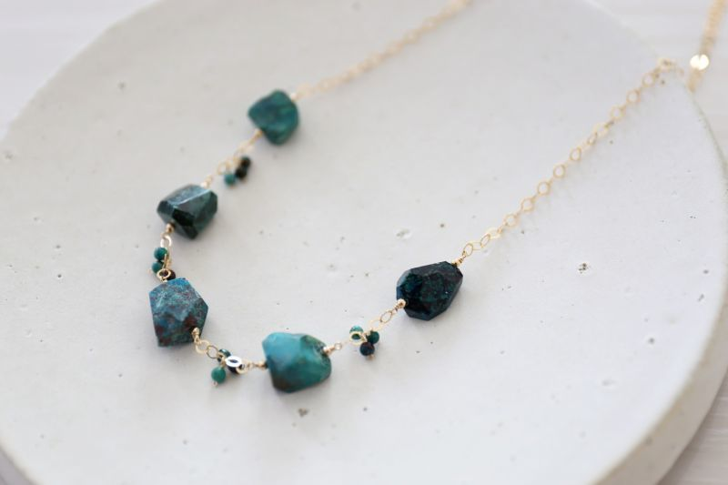 画像2: 14KGF chrysocolla necklace