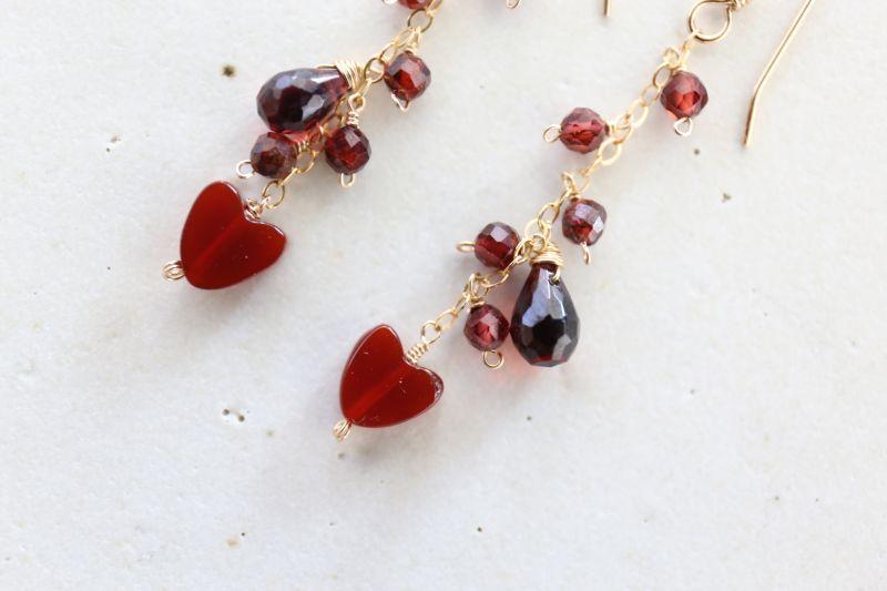 画像2: 14KGF redheart garnet  pierce