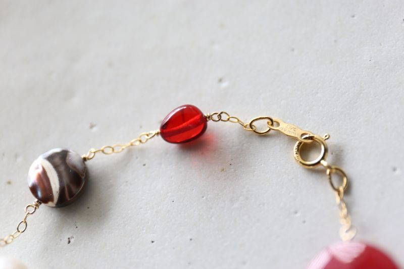 画像3: 14KGF ruby amber pearl mix bracelet