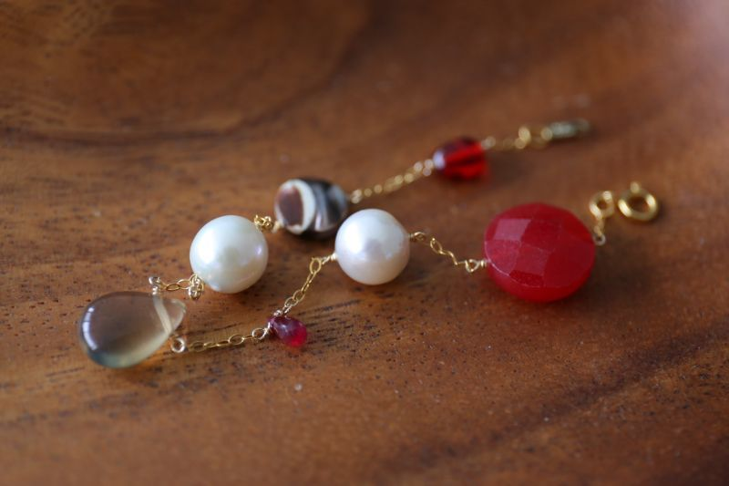 画像4: 14KGF ruby amber pearl mix bracelet