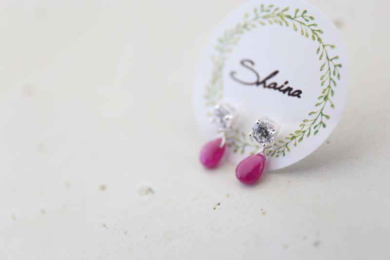 画像2: SILVER925 ruby pierce