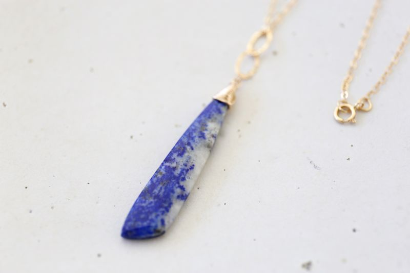 画像3: 14KGF lapis lazuli necklace