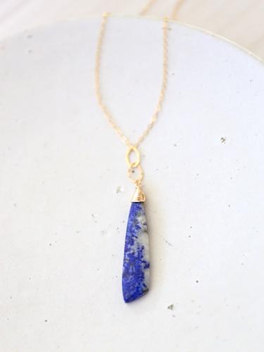 画像1: 14KGF lapis lazuli necklace