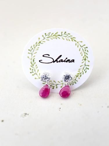 画像1: SILVER925 ruby pierce