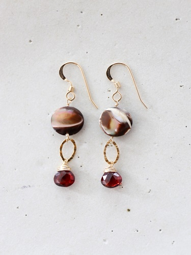 画像1: 14KGF garnet  shell pierce