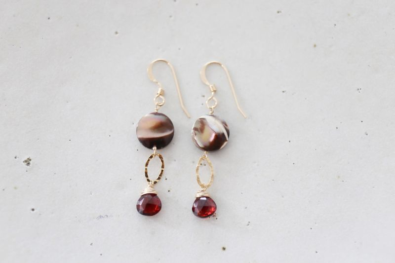 画像2: 14KGF garnet  shell pierce