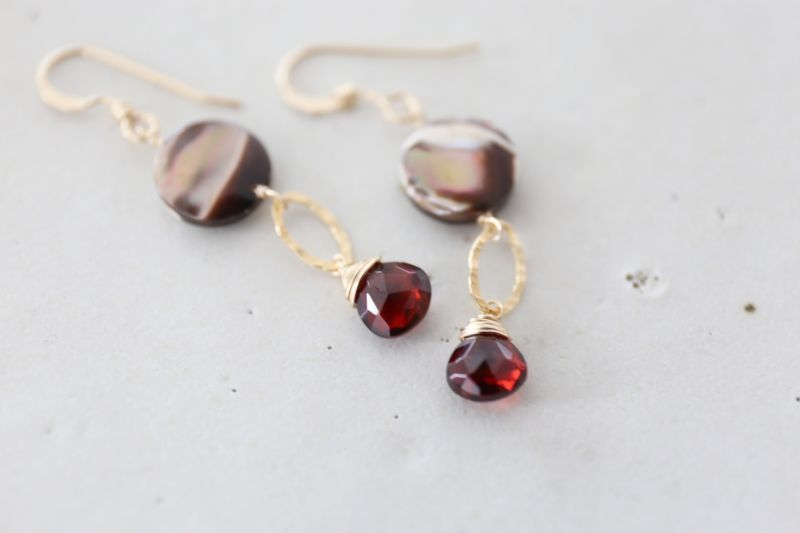画像3: 14KGF garnet  shell pierce