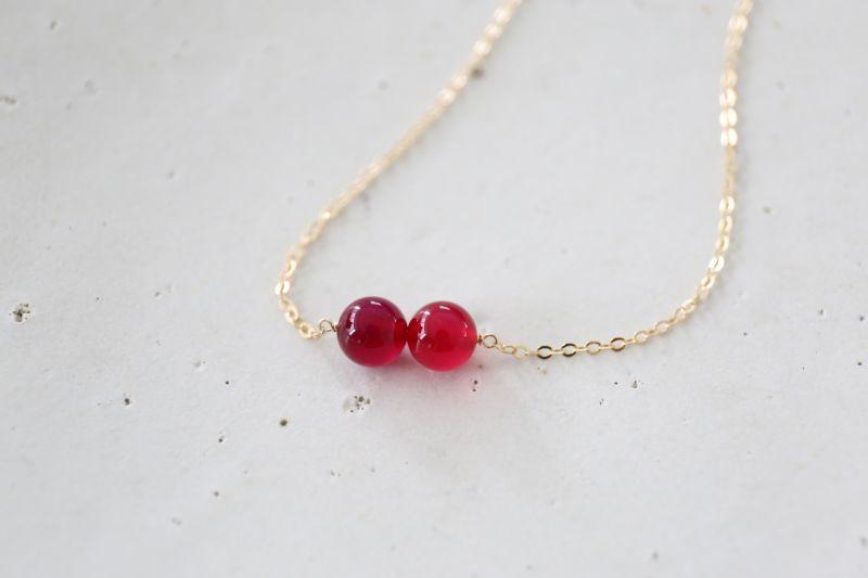 画像2: 14KGF red&purple  necklace