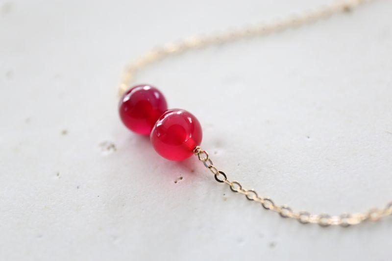 画像3: 14KGF red&purple  necklace