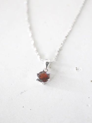 画像1: SILVER925  garnet necklace