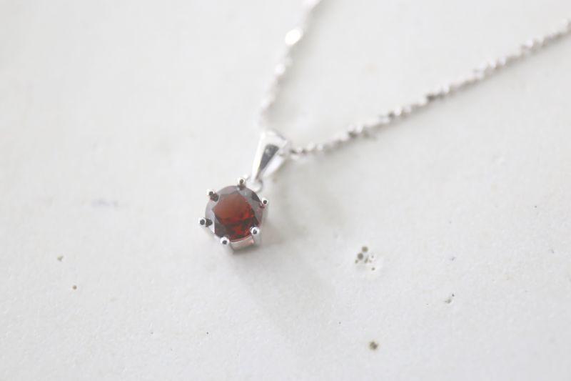 画像2: SILVER925  garnet necklace