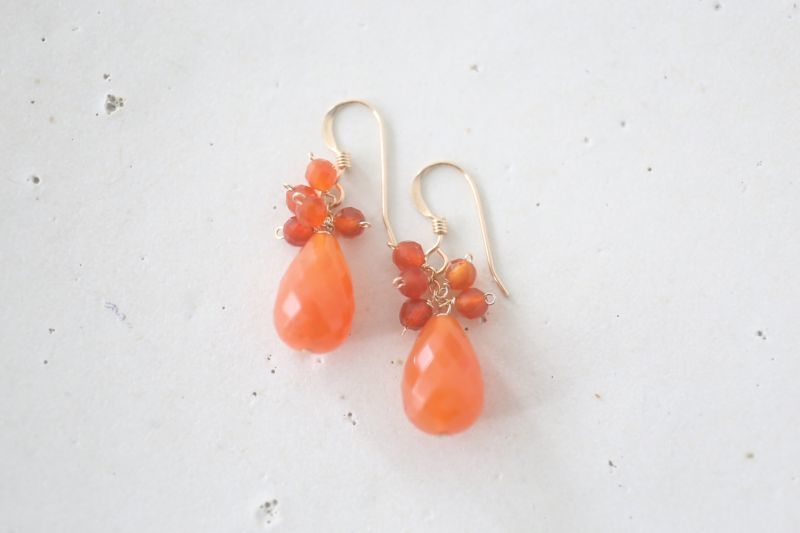 画像2: 14KGF  carnelian pierce