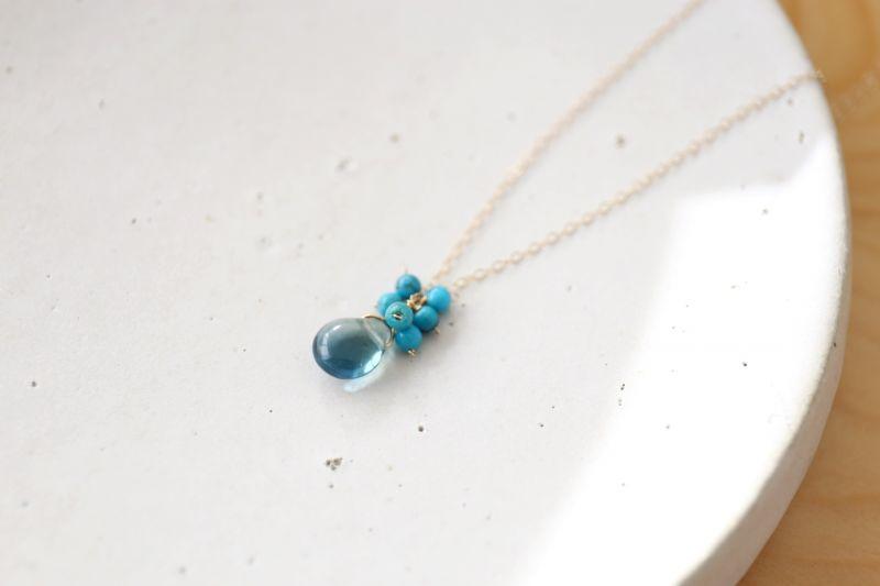 画像2: 14KGF turquoise fluorite necklace