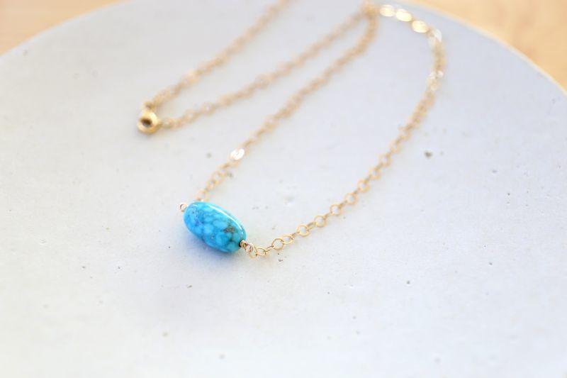 画像3: 14KGF kingmanturquoise  necklace