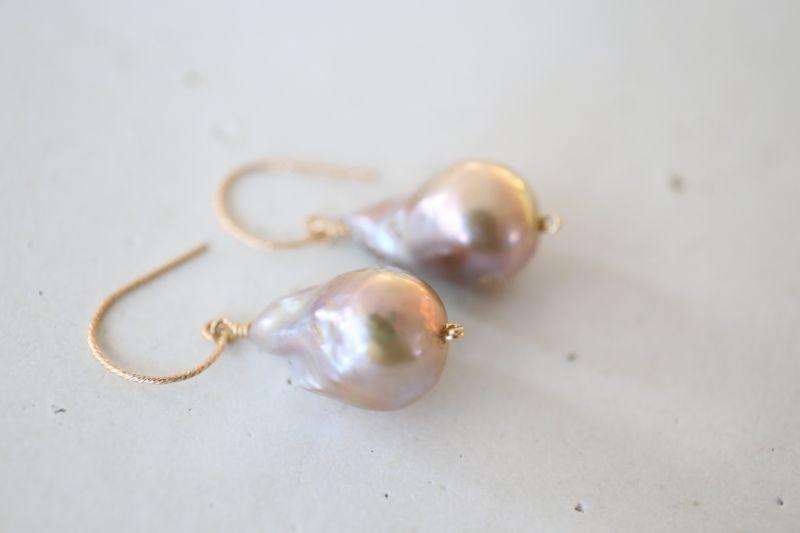 画像2: 14KGF baroque pearl pierce
