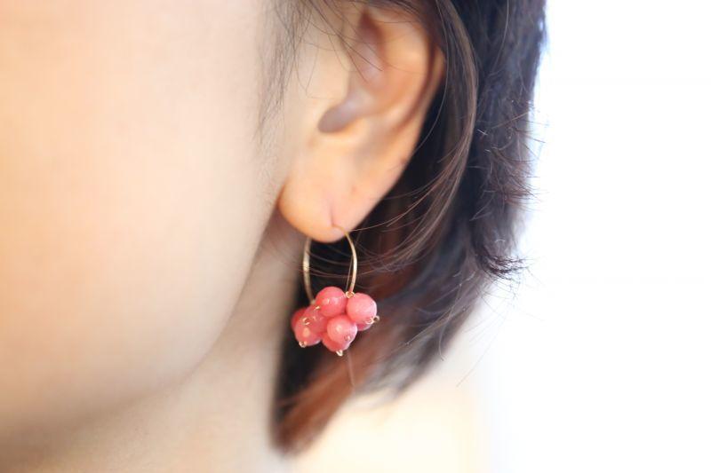 画像3: 14KGF pink jade pierce