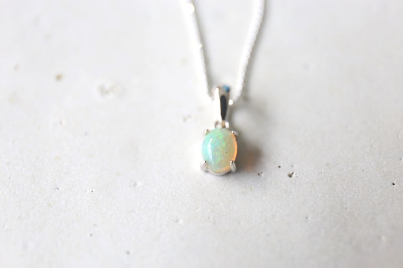 画像2: SILVER925 opal necklace