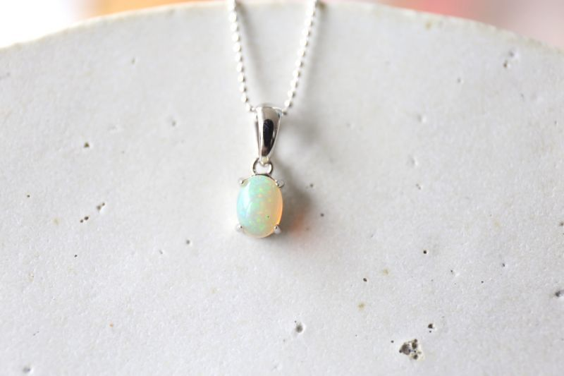 画像3: SILVER925 opal necklace