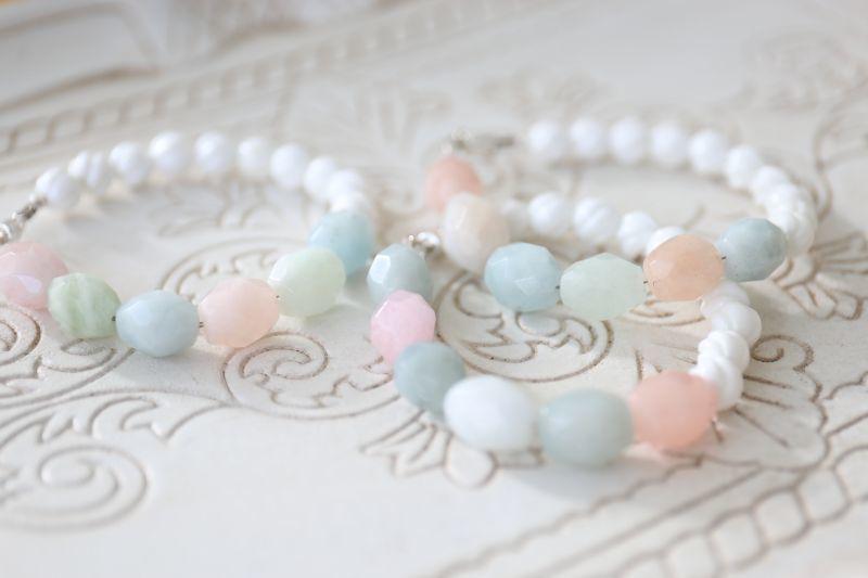 画像3: SILVER925 aquamarine bracelet