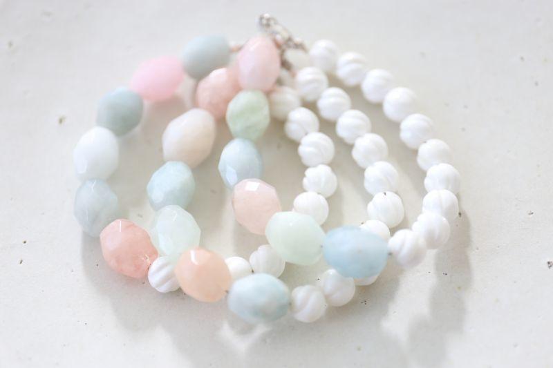 画像2: SILVER925 aquamarine bracelet