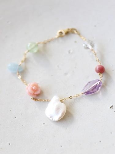 画像1: 14KGF spring bracelet