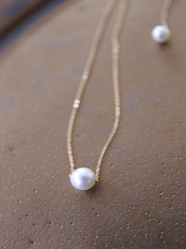 画像1: 14KGF akoya necklace