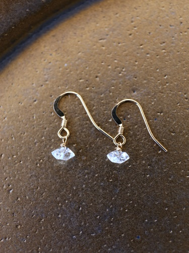 画像1: 14KGF herkimer diamond pierce