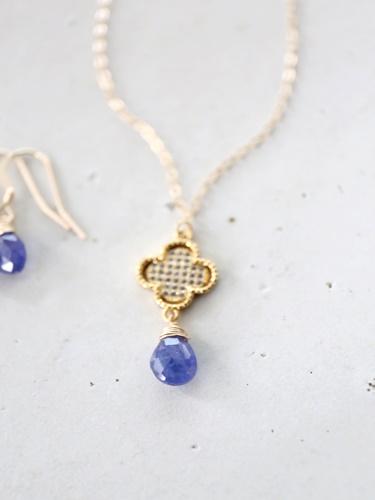 画像1: 14KGF Tanzanite necklace