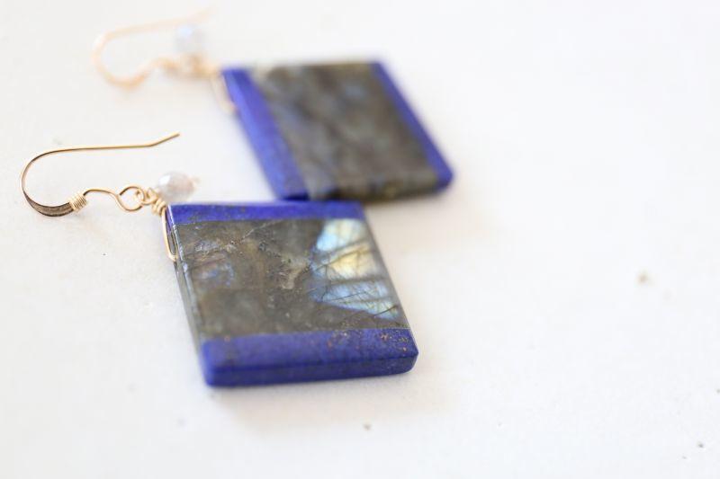 画像4: 14KGF lapis lazuli pierce