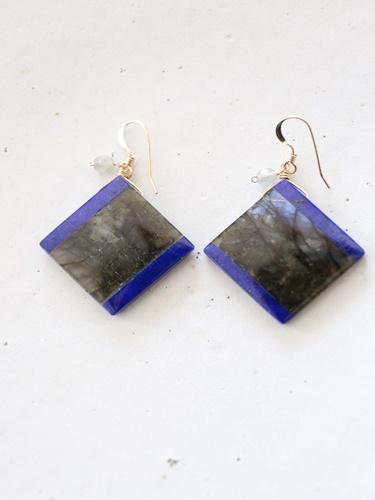 画像1: 14KGF lapis lazuli pierce